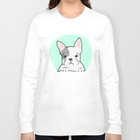frenchie Long Sleeve T-shirts featuring Frenchie by Pati Designs