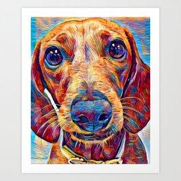Dachshund 6 Art Print