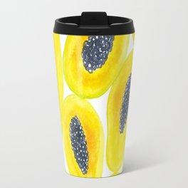 Papaya slices watercolor Travel Mug