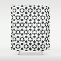 metallic Shower Curtains featuring metallic by clemm