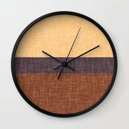 Simple Stripe Abstract with Burlap Pattern Wall Clock
