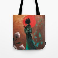 japan Tote Bags featuring Japan by Ludovic Jacqz