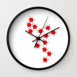 Little red stars Wall Clock