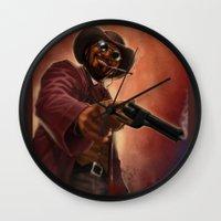 django Wall Clocks featuring Django by Andrea Mangiri