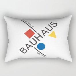 Bauhaus Movement Poster Artwork, 1919 Walter Gropius Reproduction, tshirt, tee, jersey, poster, artw Rectangular Pillow