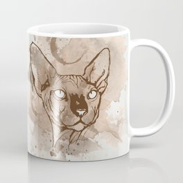 Watercolor Sphynx (Sepia/Coffee stain) Coffee Mug