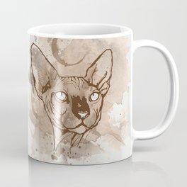 Watercolor Sphynx (Sepia/Coffee stain) Coffee Mug