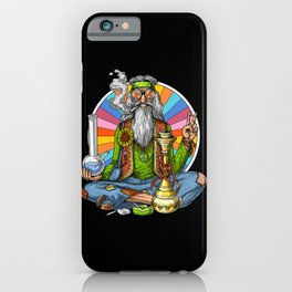 Hippie Stoner Smoking Weed iPhone Case