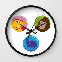 Save Nature Wall Clock