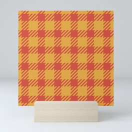 Traditional Red and Yellow Gingham Plaid  Mini Art Print