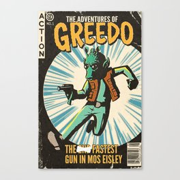Greedo Vintage Comic Cover Canvas Print