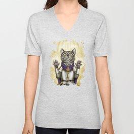 Cleric Cat Unisex V-Neck