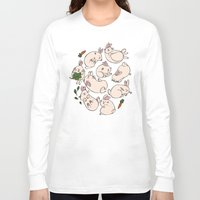 rabbits Long Sleeve T-shirts featuring Rabbits by Marie-Ève Cardinal