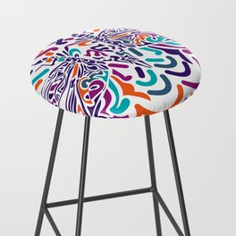 Colorful Fly Bar Stool