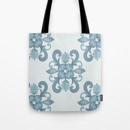 Denim Flower Tote Bag