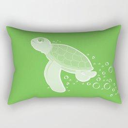 Apathetic Turtle Rectangular Pillow