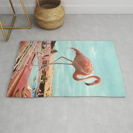 Holiday Flamingo Rug