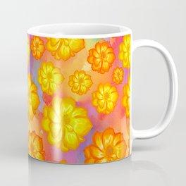 Marigols Floral Pattern Coffee Mug