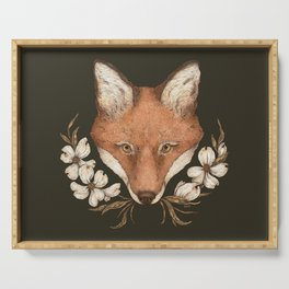 The Fox and Dogwoods Serving Tray