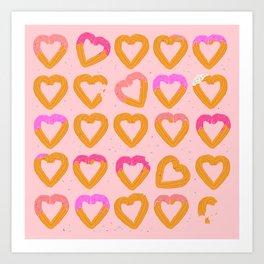 Churro Hearts Art Print