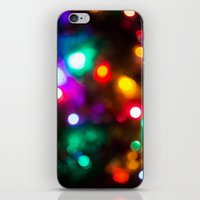 the lights iPhone & iPod Skins featuring Lights by Michelle McConnell