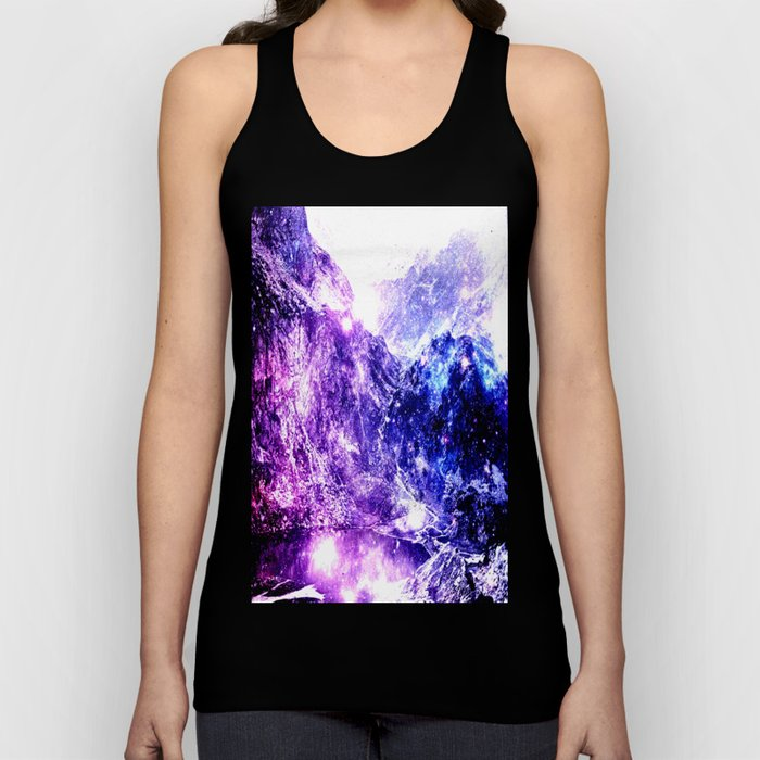 galaxy mountains Unisex Tank Top