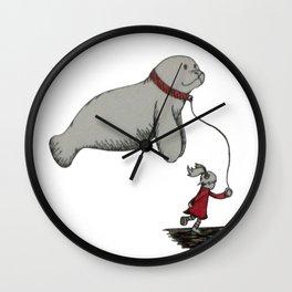 My Little Manatee Wall Clock