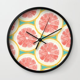 Grapefruit Pattern Wall Clock