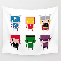 Pixel Avengers Wall Tapestry