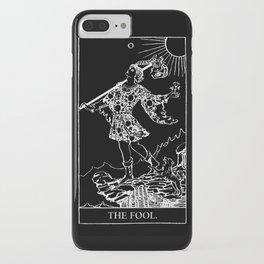0. The Fool- White Line Tarot iPhone Case