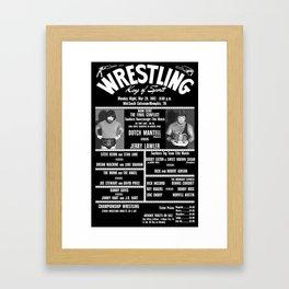 #16-B Memphis Wrestling Window Card Framed Art Print