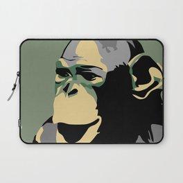Retro Zoo Berlin monkey travel advertising Laptop Sleeve
