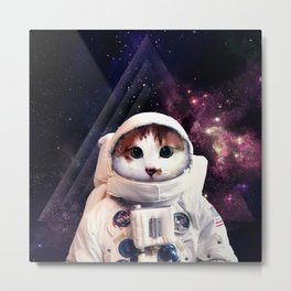 Cosmic Kitty Metal Print
