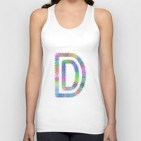 letter Tank Tops featuring Letter D by David Zydd