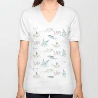 goldfish V-neck T-shirts featuring goldfish by Studio ReneeBoute