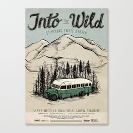 Into The Wild Film Poster Canvas Print