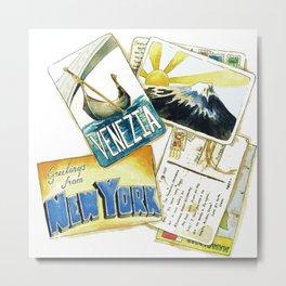 Postcards Metal Print