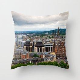 Panoramic of Edinburgh Throw Pillow