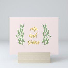 Rise and shine | motivational print | handlettering Mini Art Print