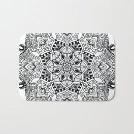 Project 290   Black and White Mandala Bath Mat