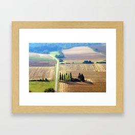 France campagne French Landscape  Framed Art Print