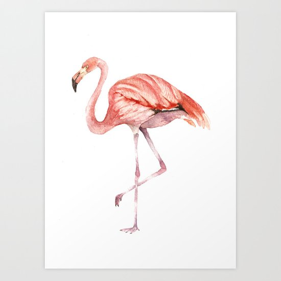 Pink Flamingo Art Print By Goosi Society6