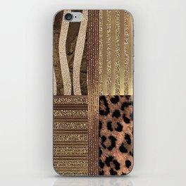 Gold Lioness Safari Chic iPhone Skin