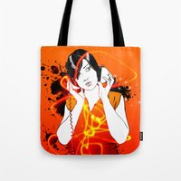 sound Tote Bags featuring Sound by CoCoCo