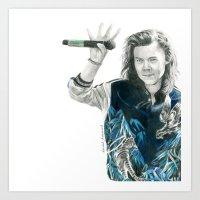 Harry styles from GMA Art Print