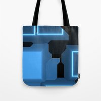 tron Tote Bags featuring Tron by Fine2art