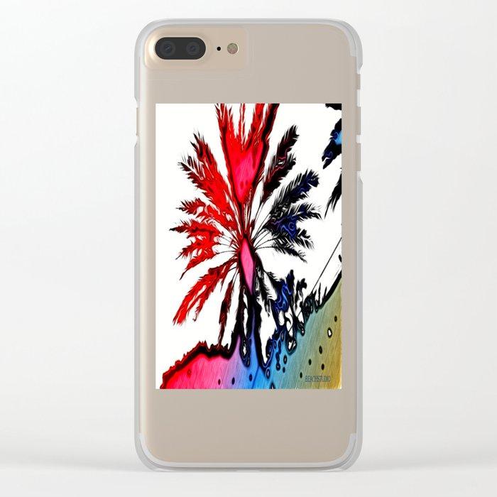 Fiery Palm Clear iPhone Case