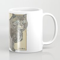 furry Mugs featuring Furry Cat by Felis Simha