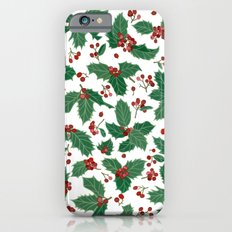 Holly pattern iPhone 6s Slim Case