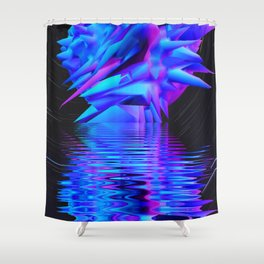 3d planet Shower Curtain